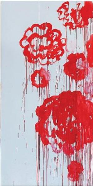 Cy Twombly Blooming, 2001-2008 250 x 500 cm Courtesy Archives Fondazione Nicola Del Roscio Photo : Studio Silvano, Gaeta © Cy Twombly Foundation