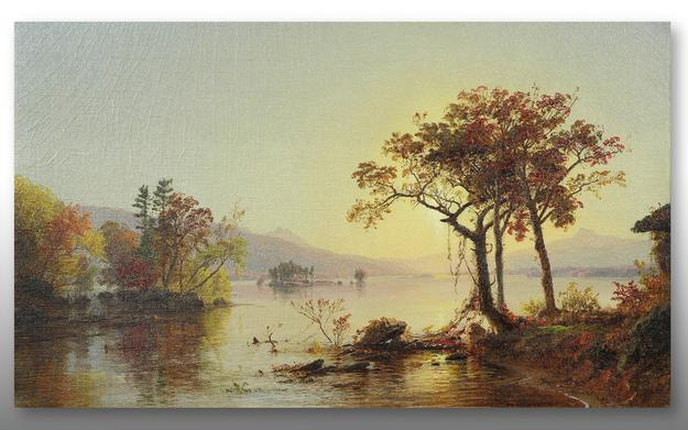 Painted in 1874, Greenwood Lake, New Jersey is one of Jasper Francis Cropsey's (American, 1823-1900) finest works and will be offered for $80,000-120,000.