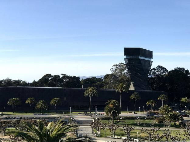 View of the de Young Museum