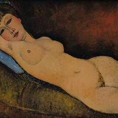 Amedeo Modigliani's Nu Couché au Coussin Bleu (1917), for which Rybolovlev paid over $120 million including commission fees.  Bouvier had gotten the work for him at $95 million.