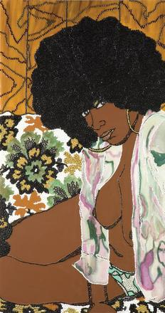 Mickalene Thomas, Whatever You Want (2004) (Courtesy of the National Museum of Women in the Arts)