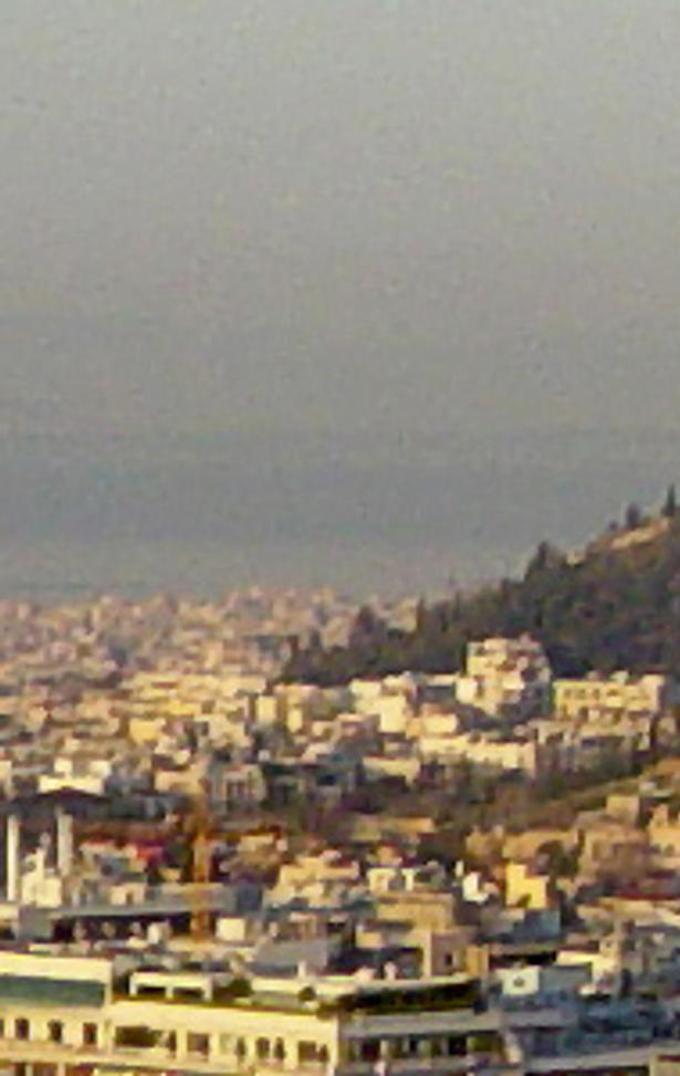 The Acropolis of Athens as seen from Mount Lycabettus.