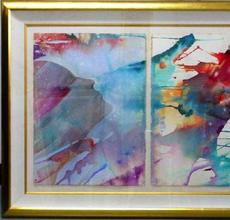 Two original paintings and four prints from Orlando Agudelo-Botero (Colombian, b.  1946) will include this triptych watercolor on paper titled Passive and Active Colors (est.  $3,000-$5,000).