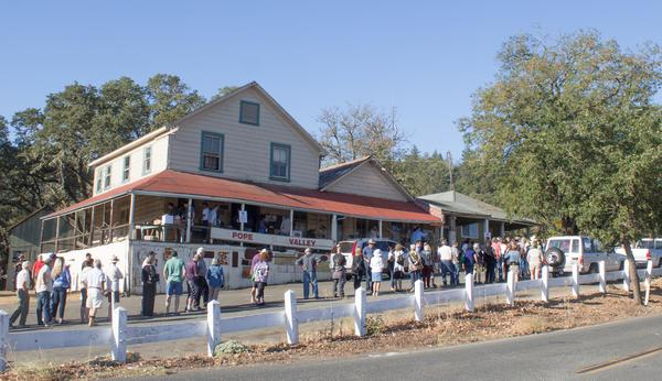 On Sept.  6, people lined up early to view items in the store at the Pope Valley stage coach contents auction.