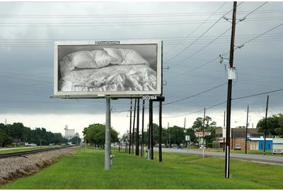 "Felix Gonzalez-Torres, ""Untitled,"" 1991.  Billboard.  Installation view of Felix Gonzalez-Torres Billboard Project.  Artpace Foundation, San Antonio, TX.  Jan.–Dec.  2010.  Location: Highway 90 and Bartlett, Houston, TX."