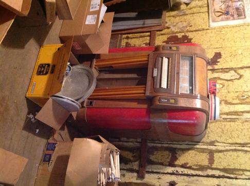 A Wurlitzer juke box is one of the many vintage items in the Pope Valley auction Saturday, September 6 in the California wine country.