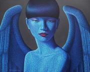 Pairoj Karndee, Hong Kong Angel, 2013, acrylic on linen, 90 x 110 cm
