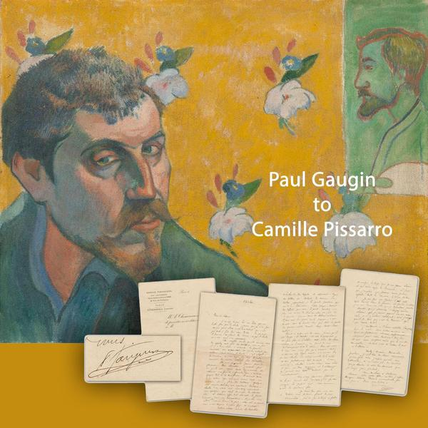 Three-page letter written by French artist Paul Gauguin to fellow artist Camille Pissarro in 1882, regarding fundamental ideas about art, artists and artistic methodology (est.  $40,000-$50,000).