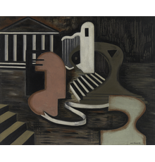 Irene Rice Pereira (American, 1902-1971), Monument I (Washington), 1938, 30 x 36 inches, signed and dated lower right