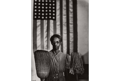 Gordon Parks (912-2006), American Gothic, Washington D.C.  [Ella Watson], 1942.  Property of The College of New Rochelle.  Est.  $5,000-8,000.