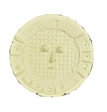 """Ceramic charger by Pablo Picasso for Madoura in 1956, titled Visage a la Grille, 16 ½ inches in diameter, #50 of 100, stamped on verso """"Empreinte Originale de Picasso"""" (est.  $3,000-$5,000)."""
