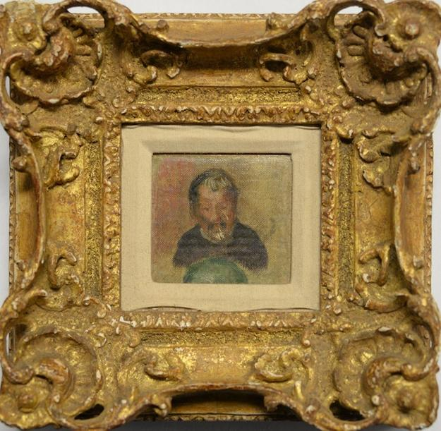 This diminutive portrait by the French Impressionist Pierre Auguste Renoir will be sold to the highest bidder April 11th.