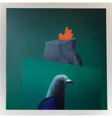 Monument (Wing) by Piers Alsop, 2020, Oil on canvas.  (130 x 130 cm)