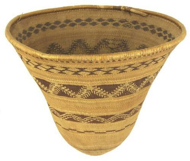This exceptional and large Pomo burded basket, made circa 1890, sold for $23,000 at Allard Auctions, Aug.  16-17 in Santa Fe, N.M.