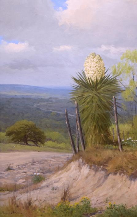 Porfirio Salinas, Yucca Vista, c.  1930s, oil on canvas, 36x24 inches