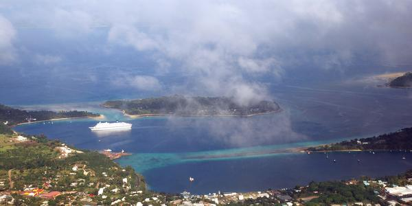 Panorama of Port Vila, capital and largest city of Vanuatu.