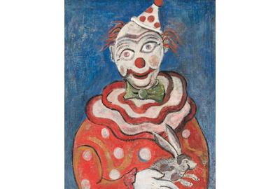 Kiehl and Christian Newswanger, Portrait of a Clown, c.  1952, oil on canvas, Private Collection.