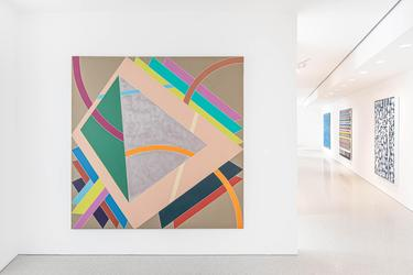 Installation view of Distinctive/Instinctive: Postwar Abstract Painting (February 20 – April 10, 2021) at Michael Rosenfeld Gallery, New York