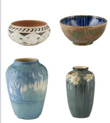 Pottery pieces in the auction will include wonderful examples from Shearwater Pottery, Paula Ninas of New Orleans and artisans from Newcomb College.  All are highly collectible.