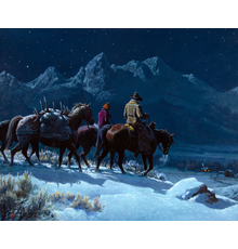 Clark Kelley Price (1945- ), Sweet Wyoming Home, oil on canvas, 24 x 30, Estimate: $3,000-$5,000, SOLD: $30,000, *World Record Price Per Square Inch*