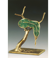 The melting clock motif frequently used in Salvador Dalí's (1904-1989) work is seen in his bronze sculpture Profile of Time.