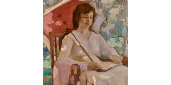 Clarence Hinkle, Quiet Pose, 1918, oil on canvas