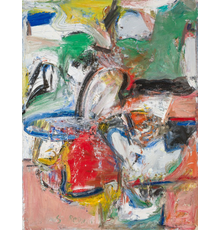 "MILTON RESNICK, American (1917-2004), ""Ulysses,"" 1956, oil on canvas, signed and dated, 57 x 44 inches, SOLD FOR $137,500"