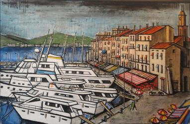 "Bernard Buffet, Saint ""Tropez, le port"""