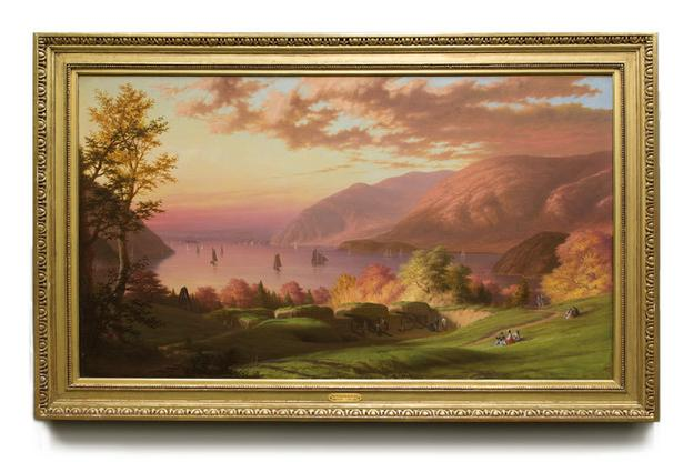 View of the Hudson River From West Point, Robert Weir, 1869, oil on canvas