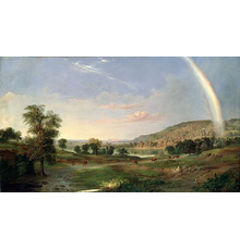 Landscape with Rainbow by Robert S.  Duncanson