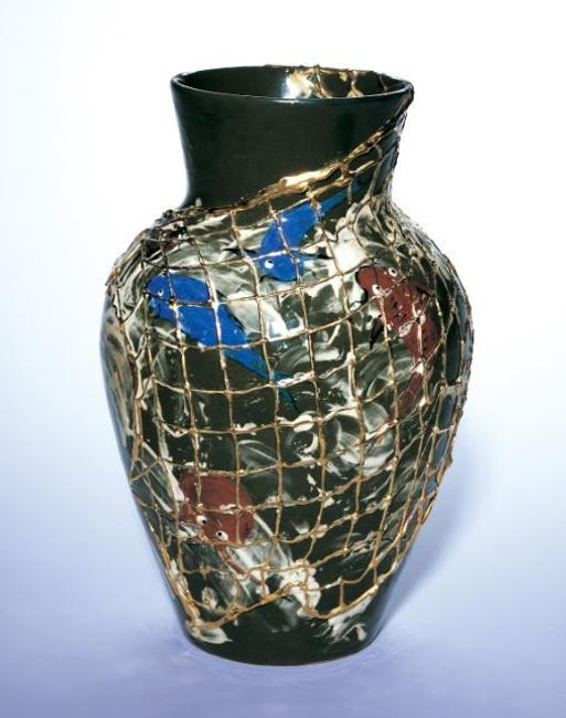 Vase, 1882, Maria Longworth Nichols Storer, decorator, The Rookwood Pottery Company, United States (Cincinnati), earthenware, Cincinnati Art Museum: Gift of Florence I.  Balasny-Barnes in memory of Parents Elizabeth C.  and Joseph Balasny, 1992.86