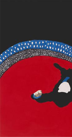 Rosalyn Drexler, Climbing Out of a Painting Ain't Easy, 2012.  Courtesy the artist and Garth Greenan Gallery, New York.  © 2016 Rosalyn Drexler / Artists Rights Society (ARS), New York and Garth Greenan Gallery, New York