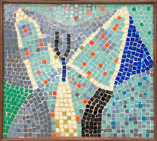 Mosaic tile by Roy Lichtenstein (American, 1923-1997) made in 1950 and included in the artist's online catalogue raisonne (est.  $30,000-$50,000).