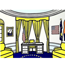Screen-print in colors by Roy Lichtenstein (American, 1923-1997), titled The Oval Office, a politically-themed work, especially meaningful in today's trying times (est.  $30,000-$50,000).