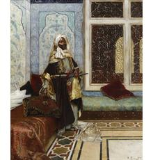 Rudolf Ernst (Austrian, 1854-1932), The Palace Guard (Awaiting an audience), oil on panel (estimate: $200,000-300,000)