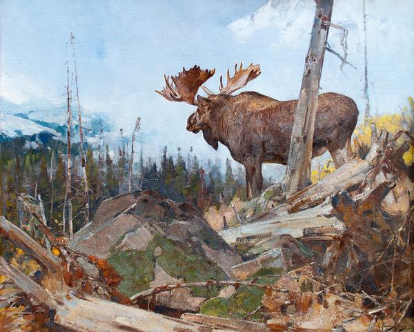 Carl Rungius (1869–1959), Alaskan Wilderness, oil on canvas, 40 1/4 x 50 1/4 in, Estimate: $400,000–$600,000