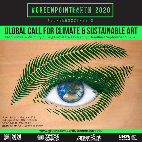Artwork: 'Forest Focus,' the beautiful redesign of the SDG 13 Climate Action symbol created by @gerada_art for GreenPoint EARTH Madrid 2019.