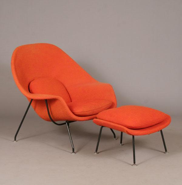 Eero Saarinen Womb chair with ottoman by Knoll $900 sold at Antique Helper in 2008
