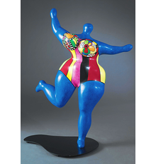 NIKI DE SAINT PHALLE DAWN (Bleue), circa 1993 painted polyester on metal base 55.51 x 45.51 x 25 in.  141 x 115.6 x 63.5 cm.