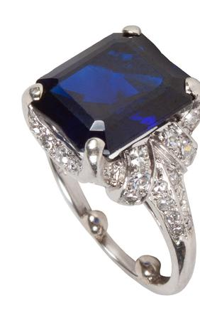 A Sapphire & Diamond Ring by Tiffany & Co.