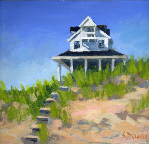 Sara Drought Nebel, Cape Cottage, acrylic
