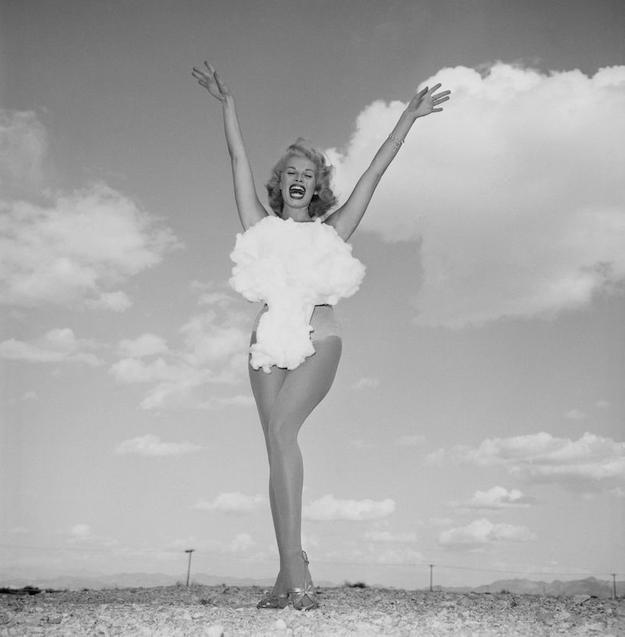 Don English, Miss Atomic Bomb, 1957, courtesy of the Las Vegas News Bureau.
