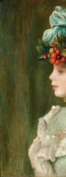 Pierre Auguste Renoir (French, 1841-1919), Girl with Hat with Cherries, 1880.  Oil on canvas.  Colección Duques de Alba
