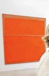Marguerite and the late Robert Hoffman shown with the red Rothko.