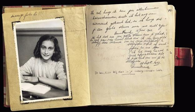 Page from the diary of Anne Frank