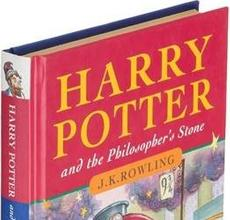 "At $81,250 (hammer price), J.K.  Rowling's ""Harry Potter and the Philosopher's Stone"" set the world record for the highest price paid for an unsigned work of fiction published in the last 50 years."