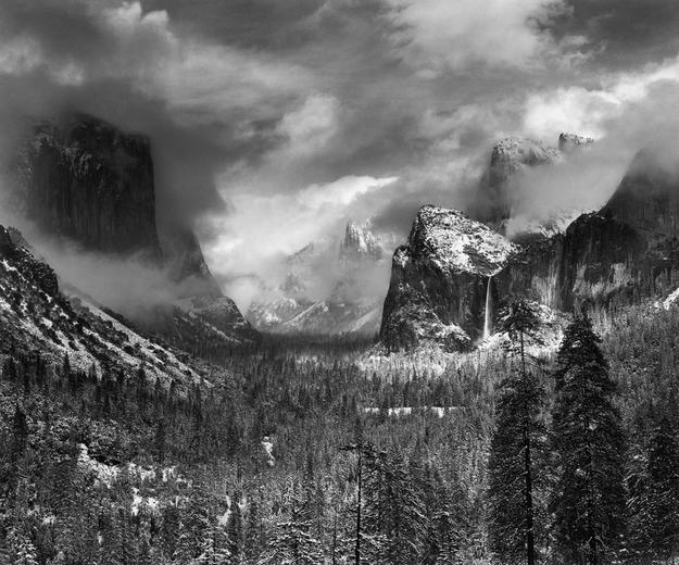 Ansel Adams, Clearing Winter Storm, Yosemite National Park