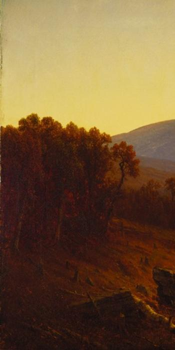 Sanford Robinson Gifford's Hunter Mountain, Twilight (1866) is one of many paintings from the Terra Foundation collection to be included in the 2015 exhibition From Tierra del Fuego to the Arctic: Landscape Painting in the Americas, 1830–1930.