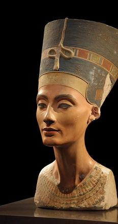 Bust of Queen Nefertiti at the Neues Museum, Berlin