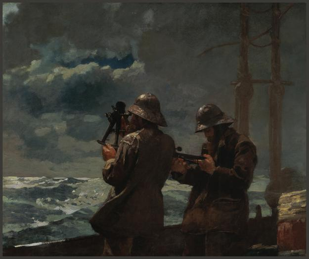 Winslow Homer (1836–1910), Eight Bells, 1886, oil on canvas, 25 3/16 x 30 3/16 in.  Addison Gallery of American Art, Andover.  Gift of an anonymous donor.  Credit: Addison Gallery of American Art, Phillips Academy, Andover, MA / Art Resource, NY
